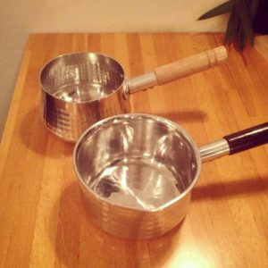 眠れる鍋の森 槌目 打出し アルミ 片手鍋 ミルクパン